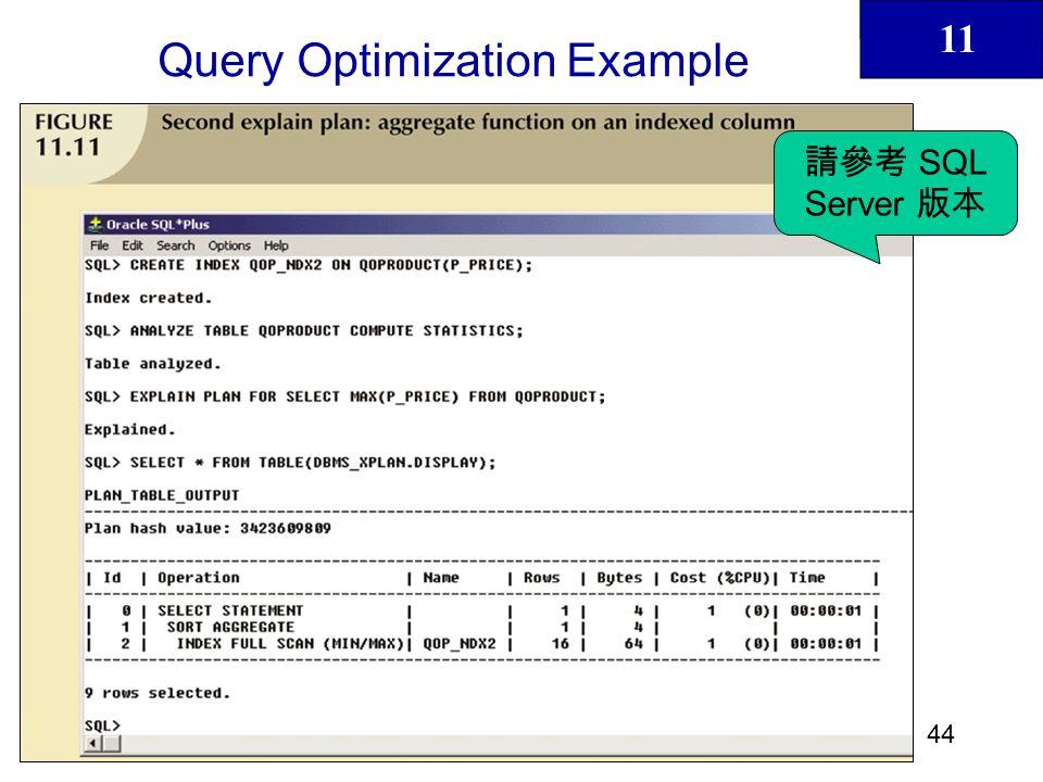 11 45 Query Optimization Example SQL Server