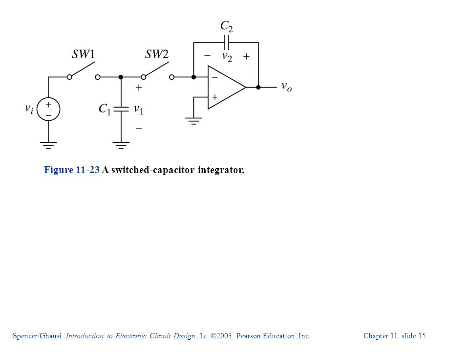 Spencer/Ghausi, Introduction to Electronic Circuit Design, 1e, ©2003, Pearson Education, Inc. Chapter 11, slide 15 Figure 11-23 A switched-capacitor i