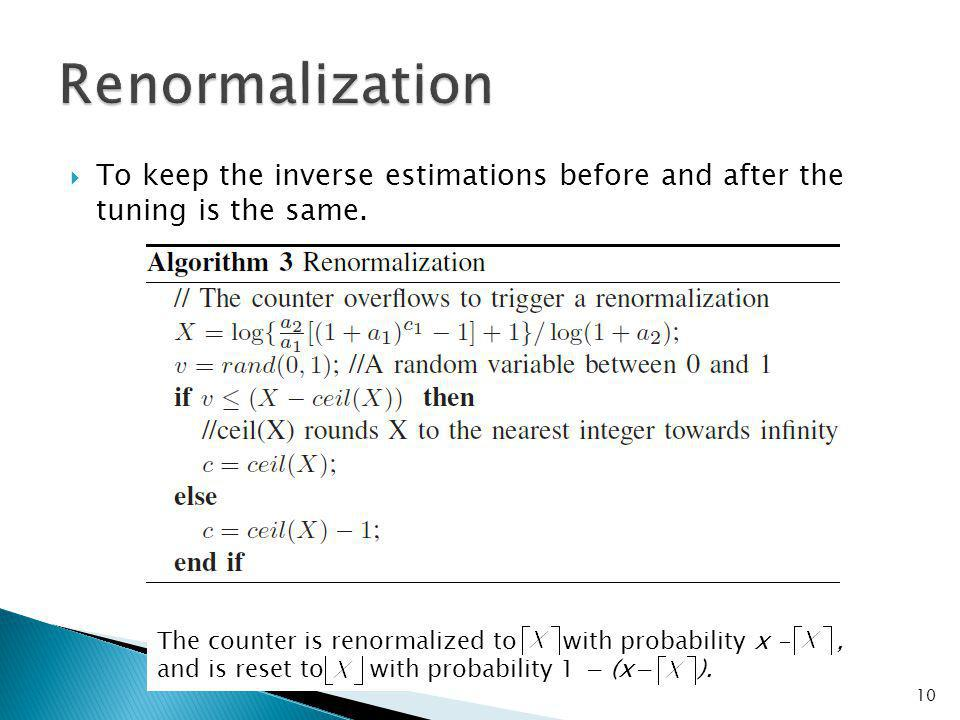 To keep the inverse estimations before and after the tuning is the same.