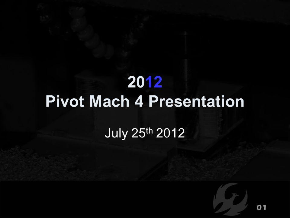 2012 Pivot Mach 4 Presentation July 25 th 2012 01