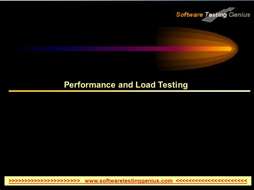 Performance and Load Testing >>>>>>>>>>>>>>>>>>>>>> www.softwaretestinggenius.com <<<<<<<<<<<<<<<<<<<<<<