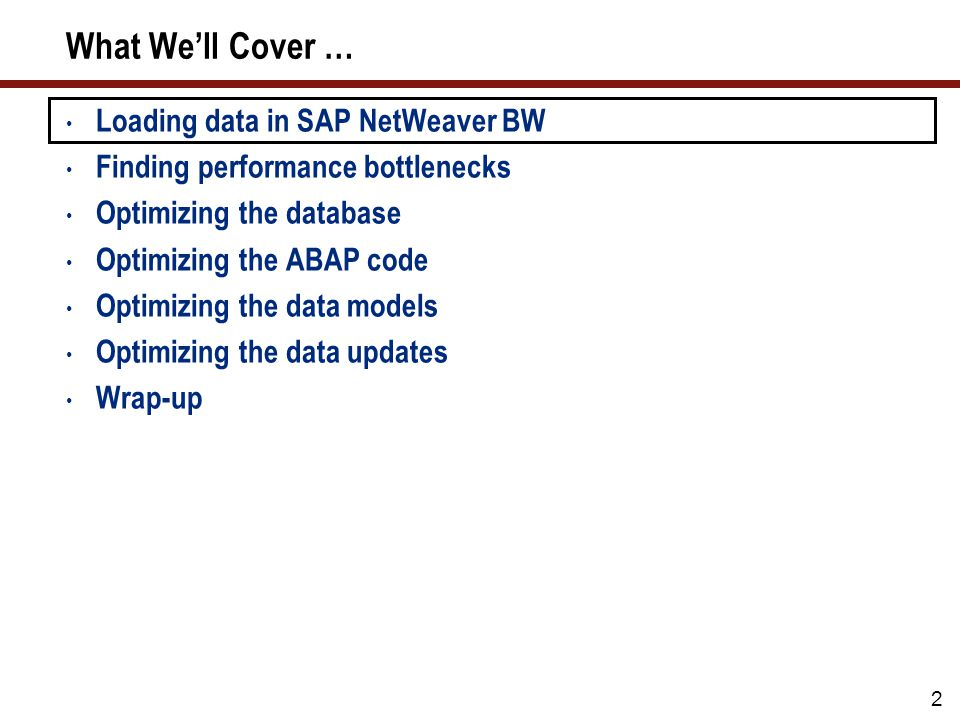 43 Tip 17: Activate Parallel Processing Parallel processing is possible for most steps in SAP NetWeaver BW DTP Parallel Processing DSO settings Transaction code RSODSO_SETTINGS