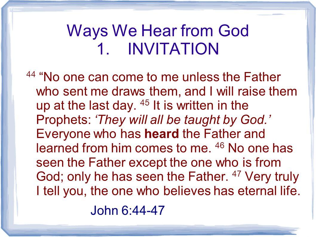 Ways We Hear from God 1.