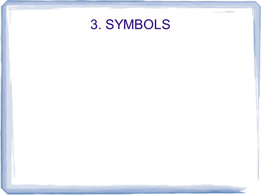 3. SYMBOLS