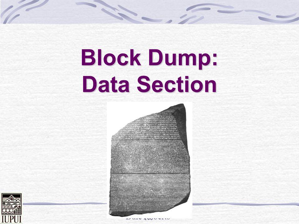 Dale Roberts 102 Last Resort - Block Dumps ALTER SYSTEM DUMP DATAFILE 5 BLOCK 50465 / ALTER SYSTEM DUMP DATAFILE 5 BLOCK 50466 / ALTER SYSTEM DUMP DATAFILE 5 BLOCK 50467 / Or… ALTER SYSTEM DUMP DATAFILE 5 BLOCK MIN 50465 BLOCK MAX 50467; (Puts output in user_dump_dest)
