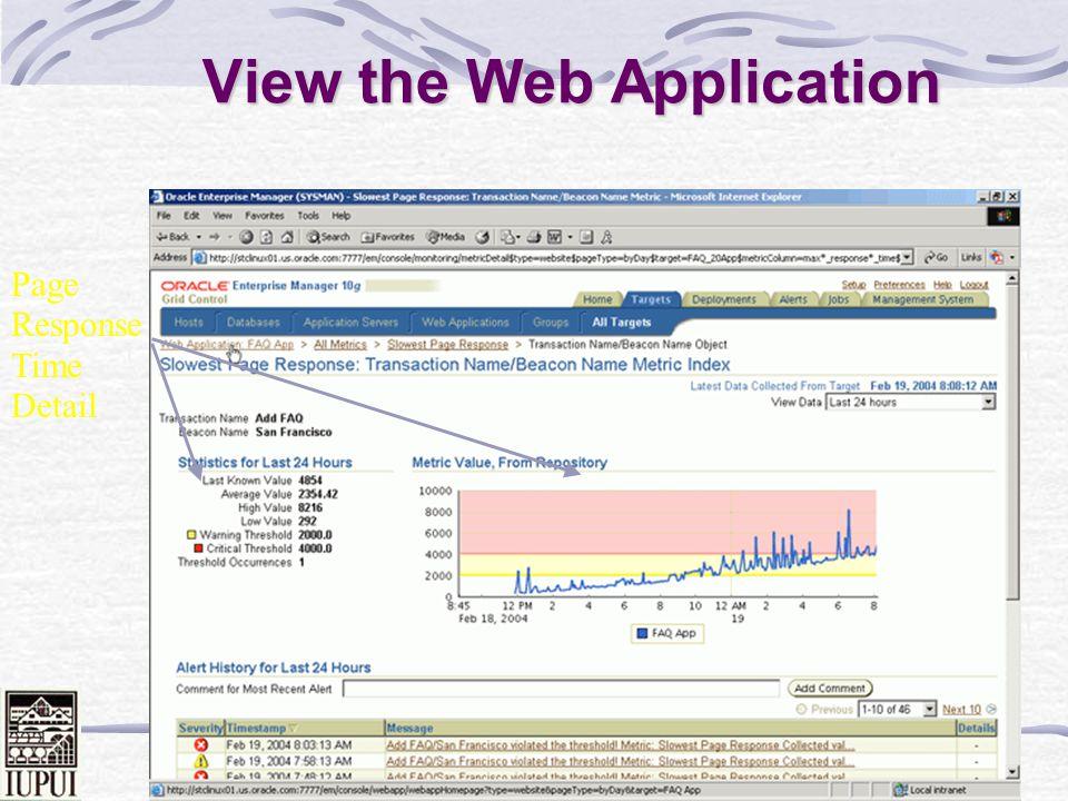 Dale Roberts 85 App. Server Performance Memory CPU Web Cache Hits