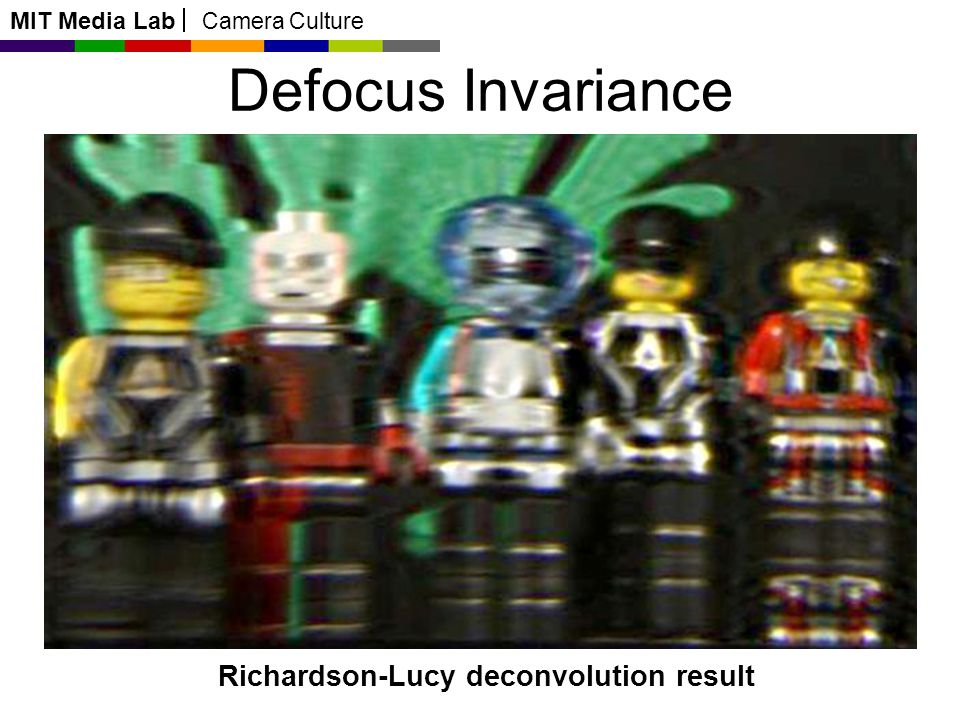 MIT Media Lab Camera Culture Defocus Invariance Richardson-Lucy deconvolution result