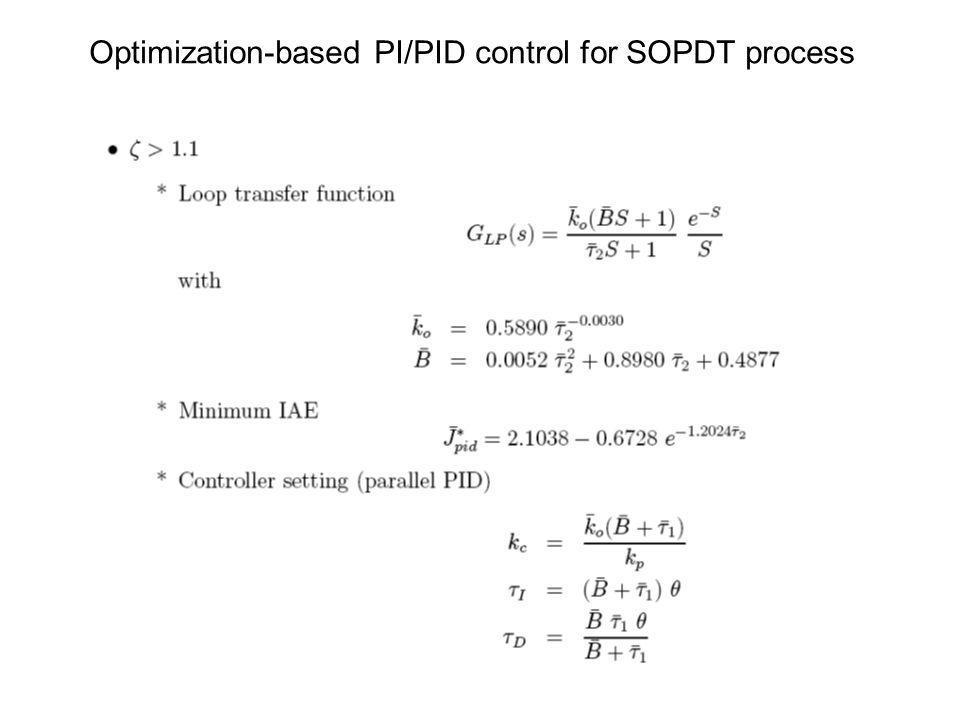 Optimization-based PI/PID control for SOPDT process