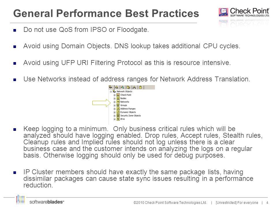 45 ©2010 Check Point Software Technologies Ltd.