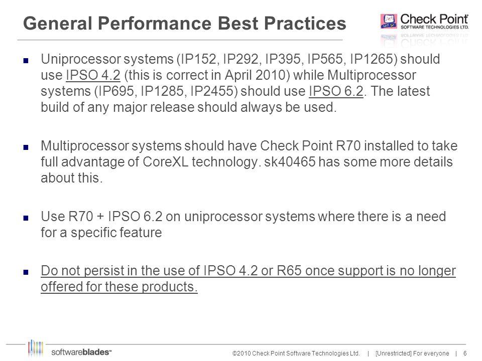 7 7©2010 Check Point Software Technologies Ltd.