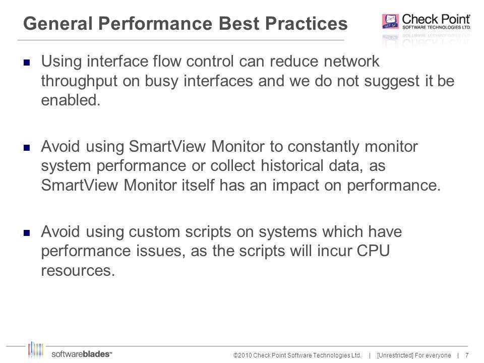 8 8©2010 Check Point Software Technologies Ltd.