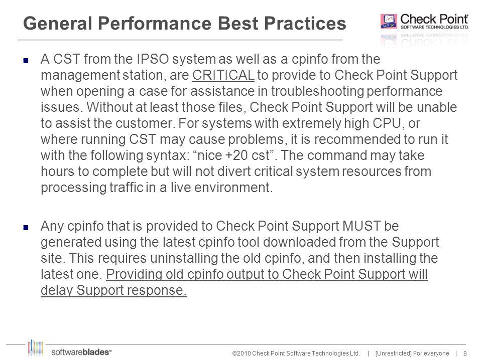 19 ©2010 Check Point Software Technologies Ltd.