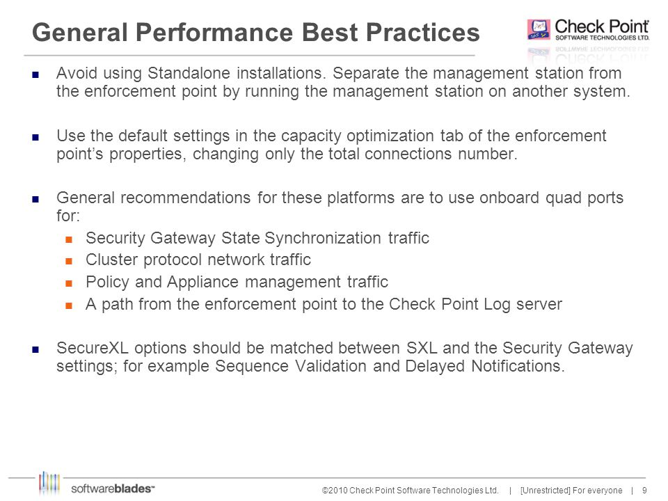 40 ©2010 Check Point Software Technologies Ltd.