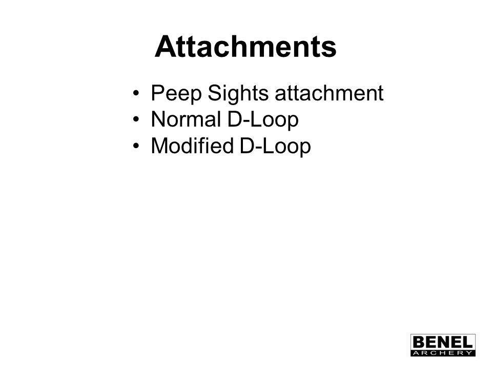 Attachments Peep Sights attachment Normal D-Loop Modified D-Loop