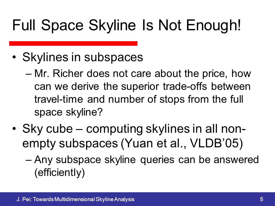 J. Pei: Towards Multidimensional Skyline Analysis5 Full Space Skyline Is Not Enough.