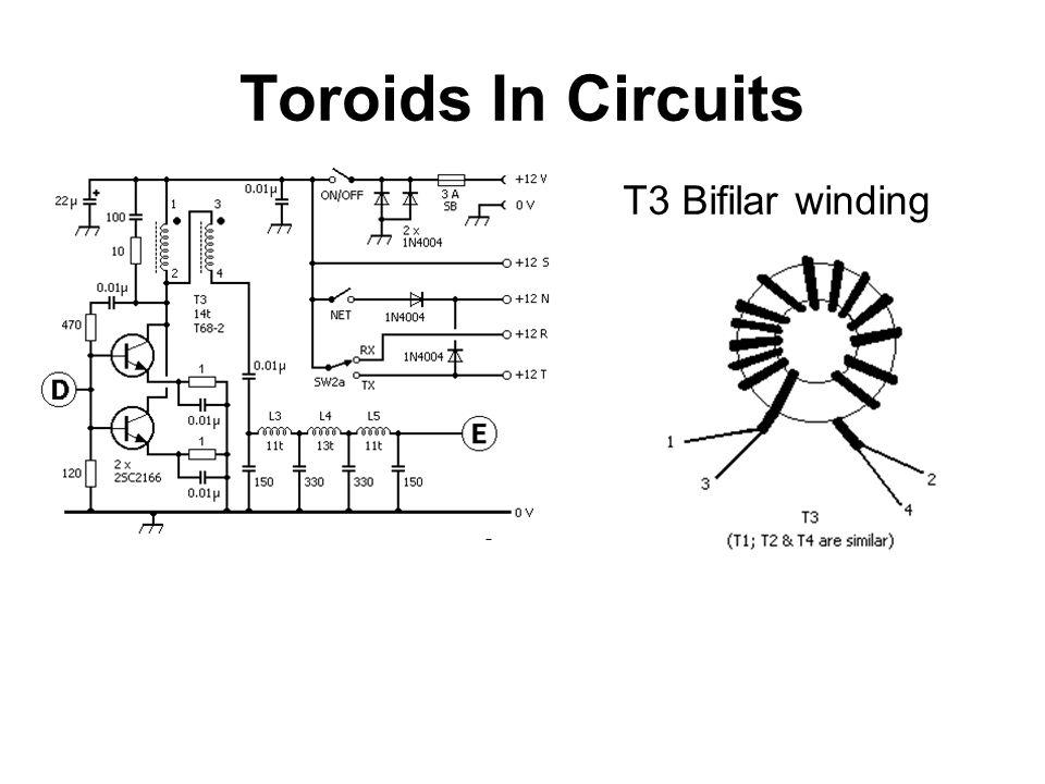 Toroids In Circuits T3 Bifilar winding