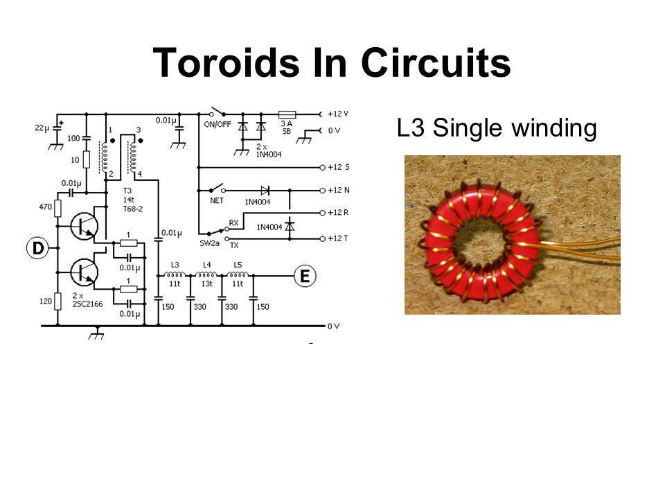 Toroids In Circuits L3 Single winding