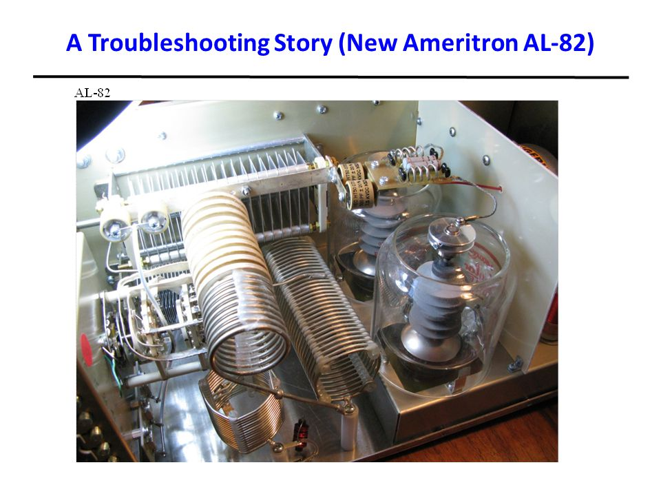 A Troubleshooting Story (New Ameritron AL-82)