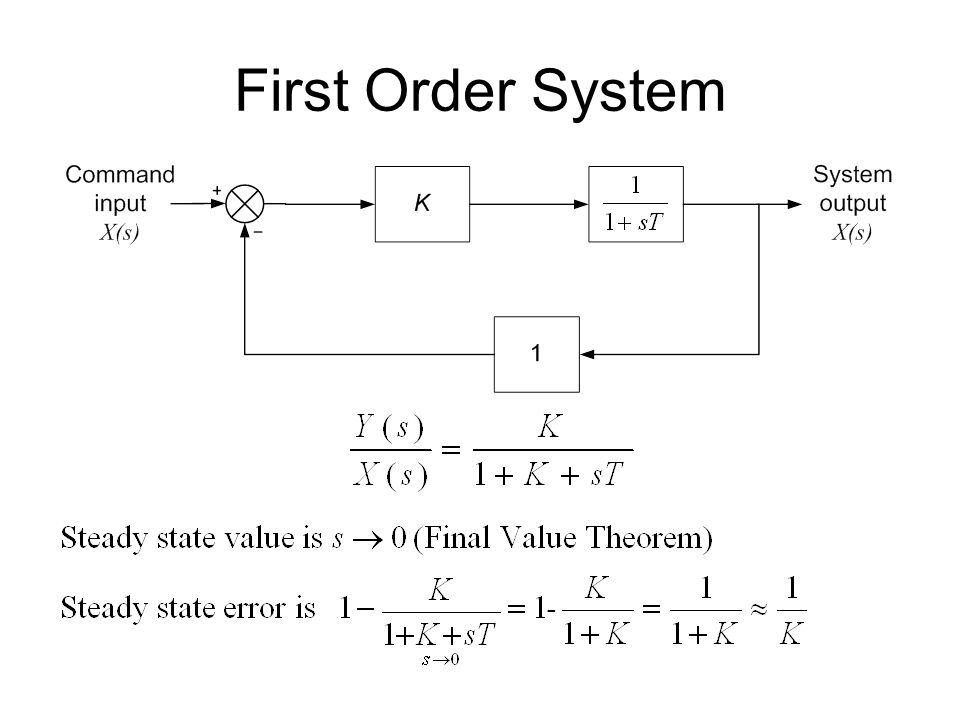 First Order System
