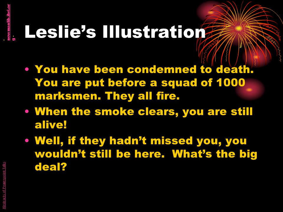 Leslies Illustration You have been condemned to death.