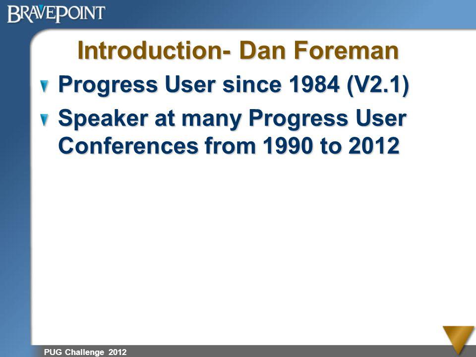 PUG Challenge 2012 Sources of Help Progress Documentation Progress DB Administration Guide dba@peg.com PSC Kbase (i.e.