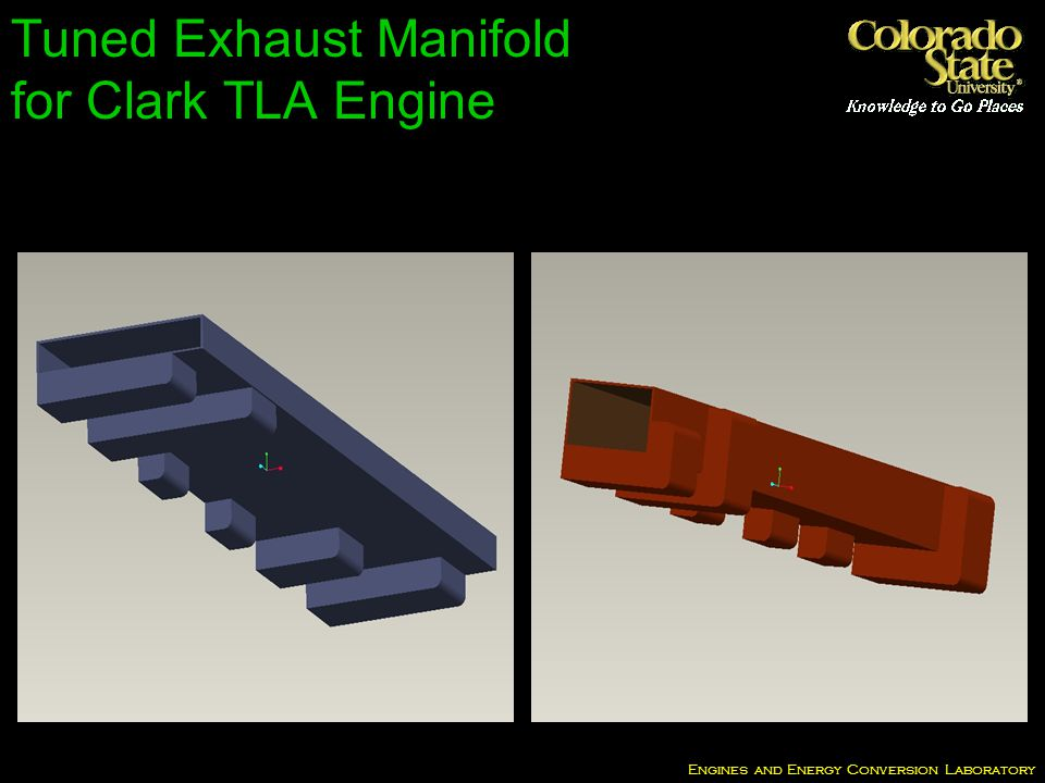 Engines and Energy Conversion Laboratory Tuned Exhaust Manifold for Clark TLA Engine