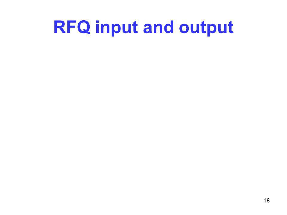 RFQ input and output 18