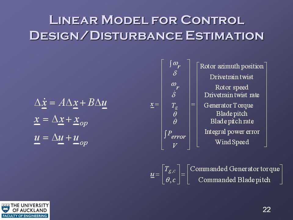 22 Linear Model for Control Design/Disturbance Estimation
