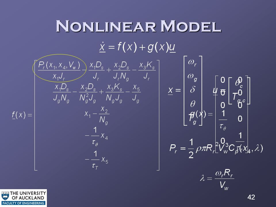 42 Nonlinear Model (7) where