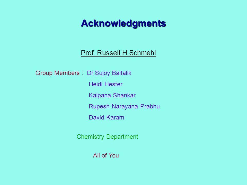 Acknowledgments Prof.