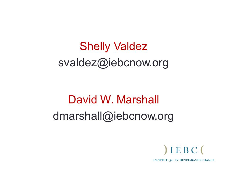 Shelly Valdez David W. Marshall