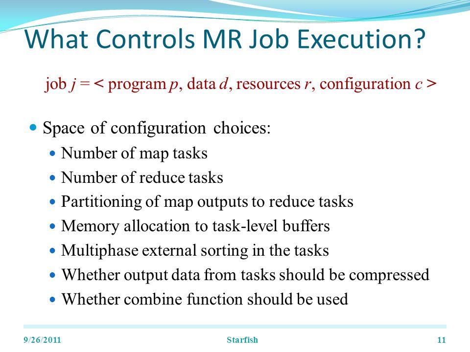 What Controls MR Job Execution.