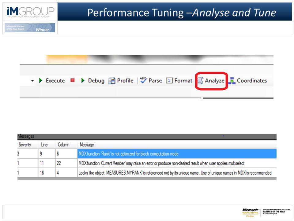 Performance Analysis MDX Studio