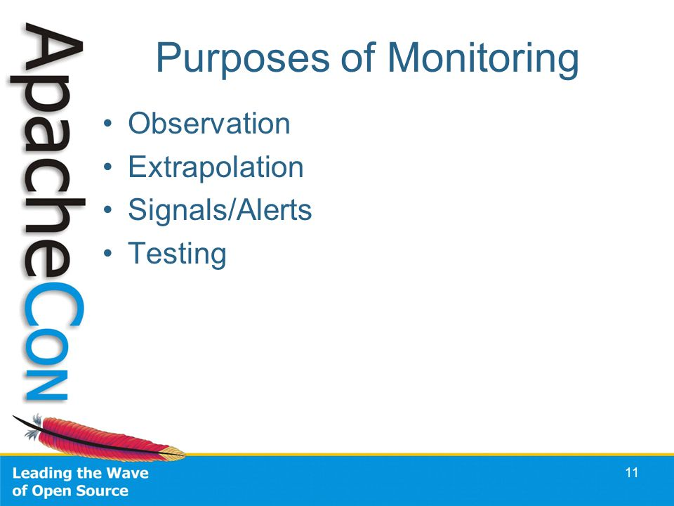 Purposes of Monitoring Observation Extrapolation Signals/Alerts Testing 11