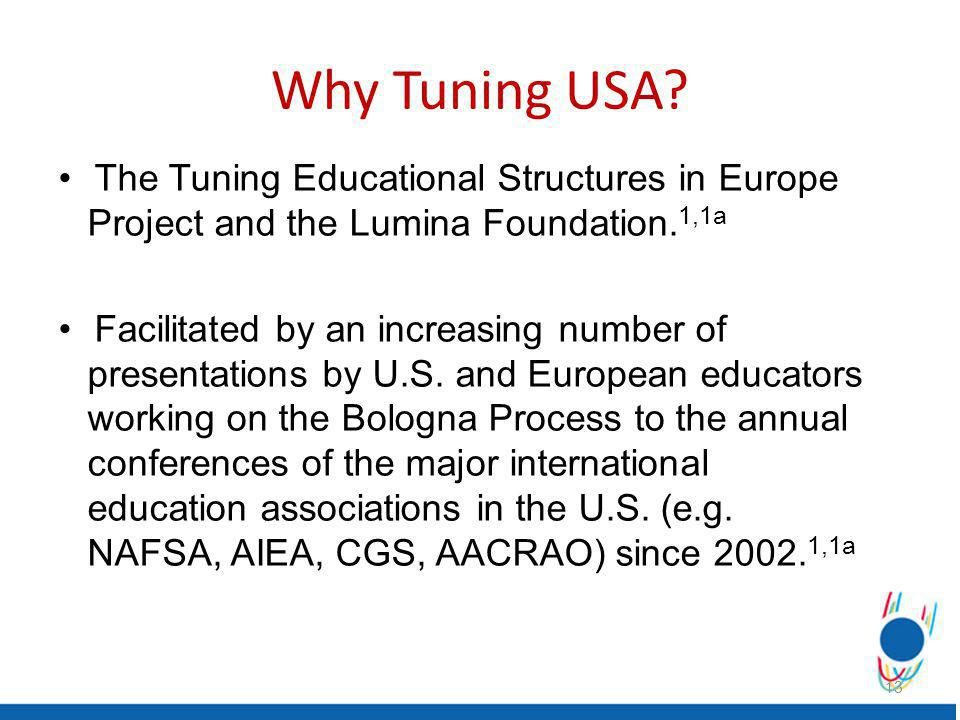 The Tuning Educational Structures in Europe Project and the Lumina Foundation.