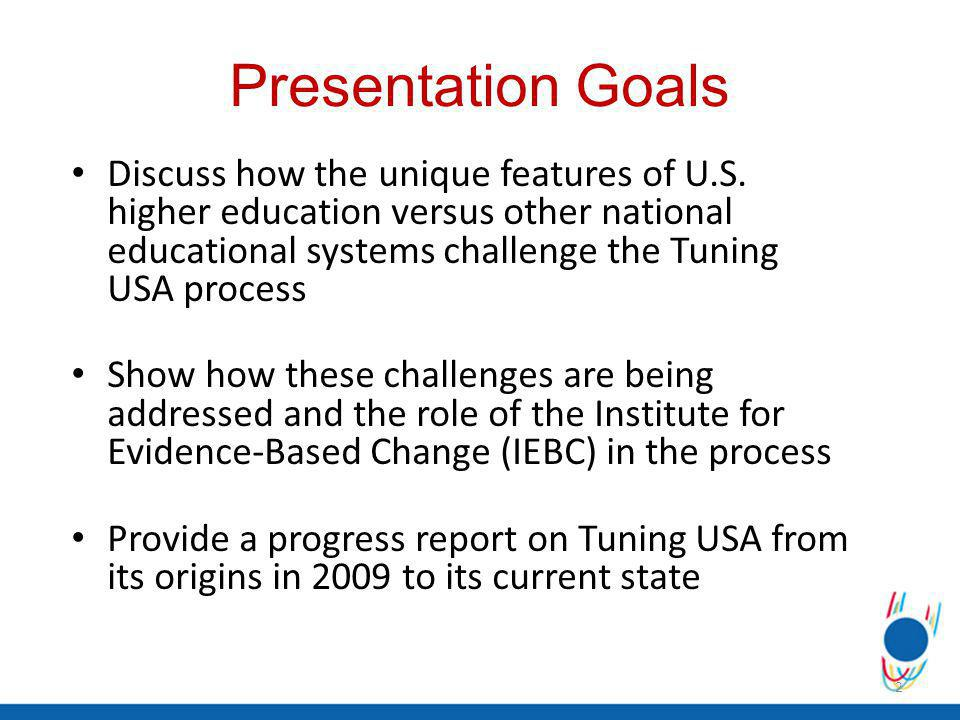 Presentation Goals Discuss how the unique features of U.S.