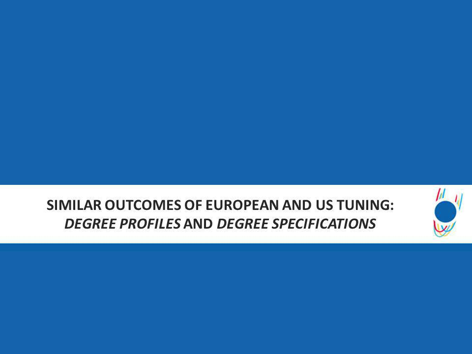 SIMILAR OUTCOMES OF EUROPEAN AND US TUNING: DEGREE PROFILES AND DEGREE SPECIFICATIONS