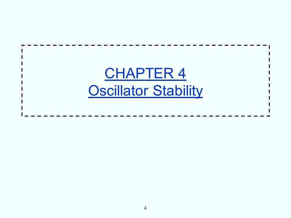 4 CHAPTER 4 Oscillator Stability