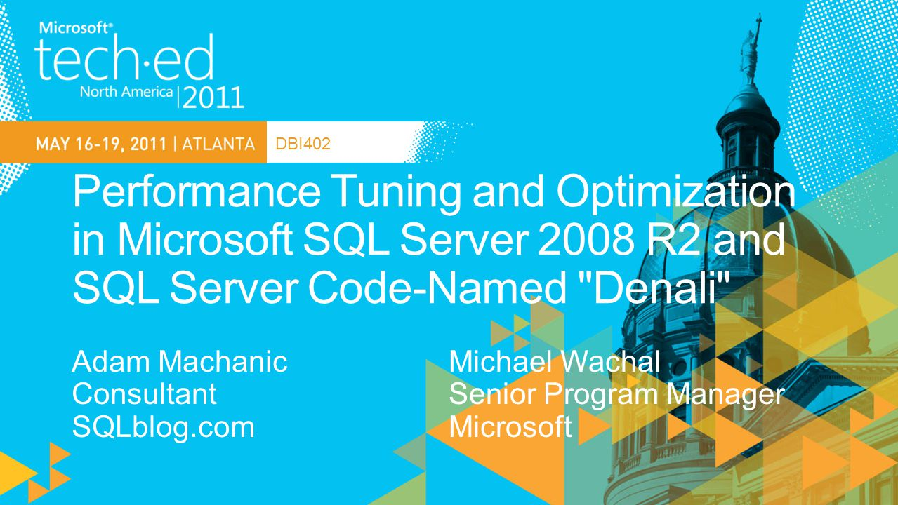 SQL Server Specialist, Financial Industry Boston, MA Conference and INETA Speaker Connections, PASS, TechEd, DevTeach, etc.