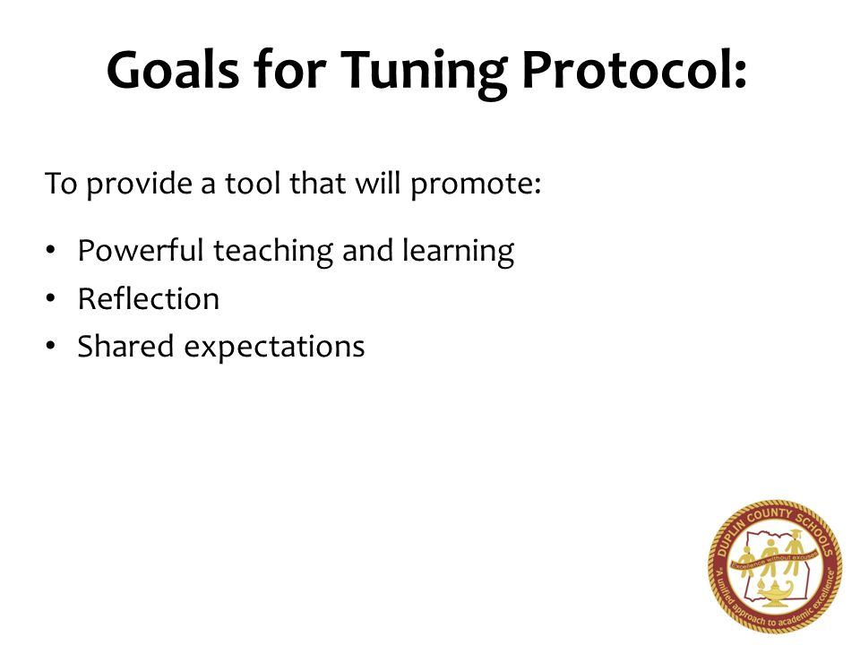 What is a Tuning Protocol.