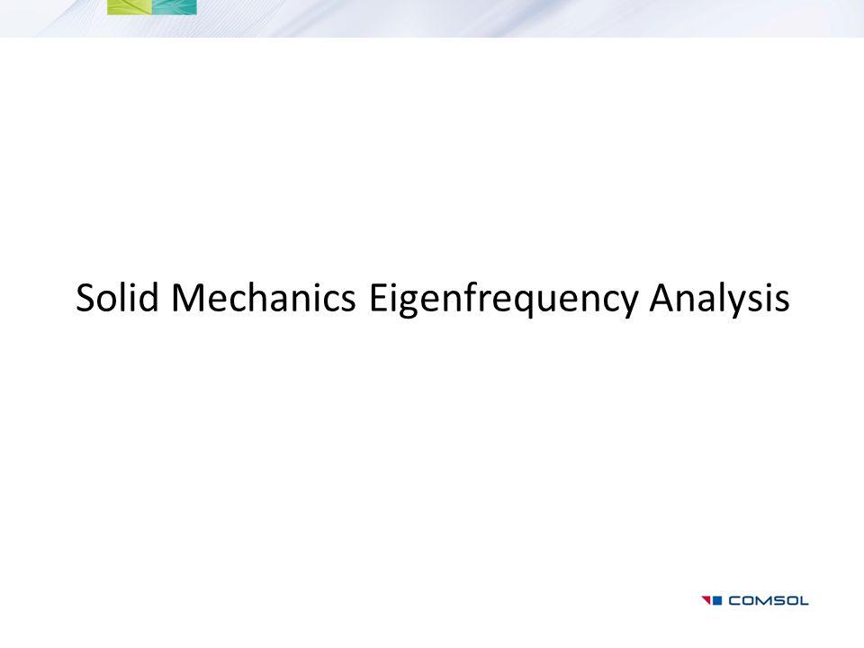 Solid Mechanics Eigenfrequency Analysis