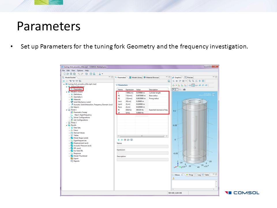 User-Defined Plot: Eigenfrequencies Add a 1D Plot Group with a Global plot.