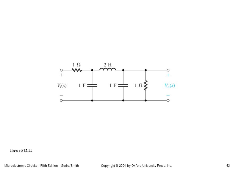 Microelectronic Circuits - Fifth Edition Sedra/Smith63 Copyright 2004 by Oxford University Press, Inc. Figure P12.11