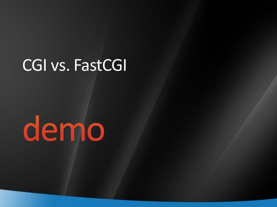CGI vs. FastCGI