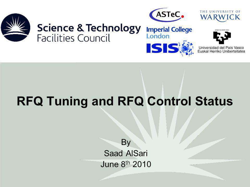 RFQ Tuning System The automatic tuning system has been developed for the main FETS 324MHz 4-vane RFQ accelerator.