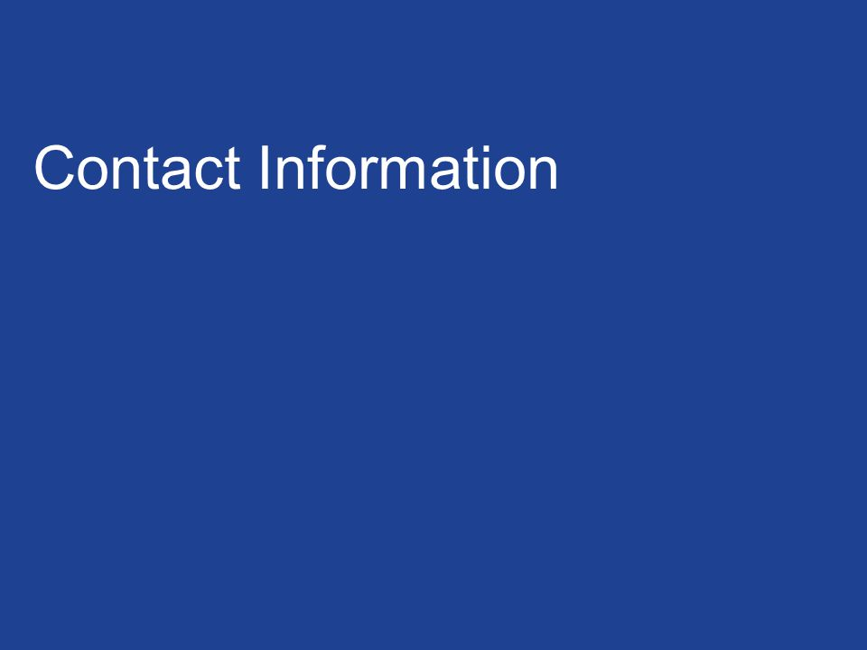 30 / GE / GE Confidential and Proprietary Contact Information