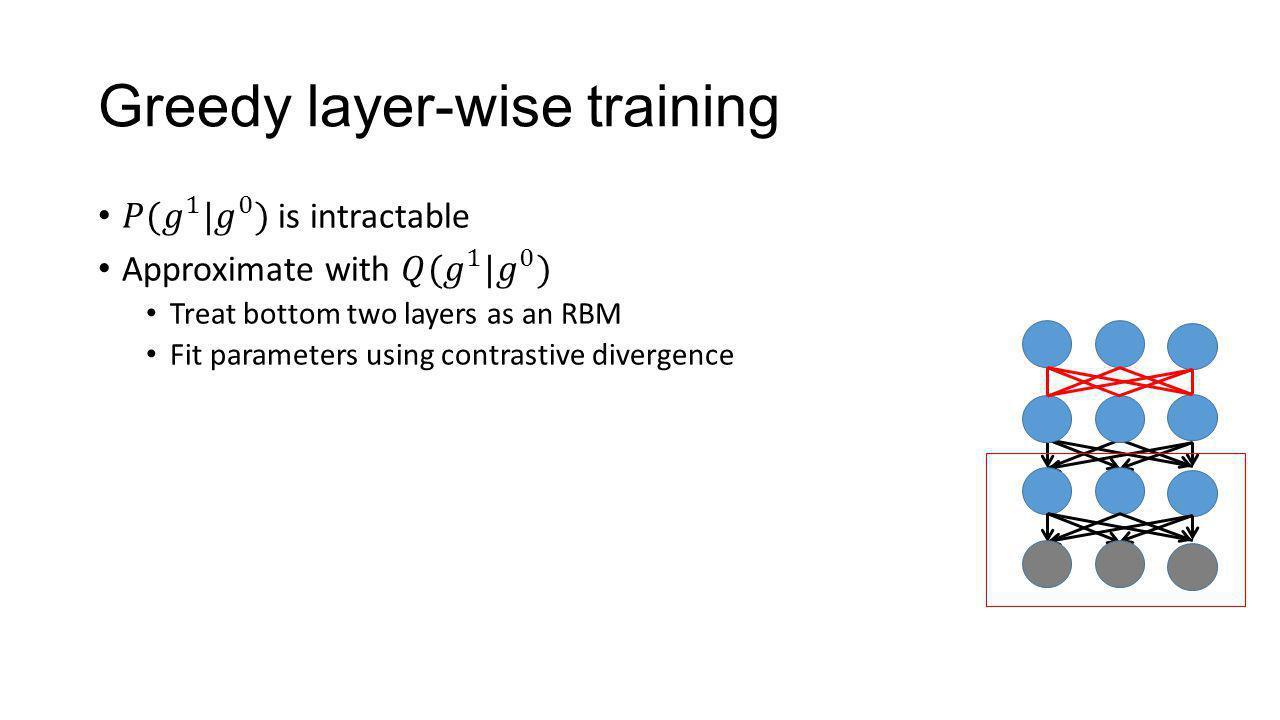 Greedy layer-wise training