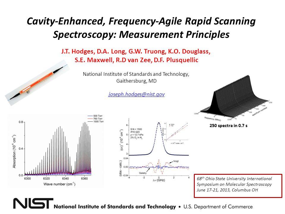 Cavity-Enhanced, Frequency-Agile Rapid Scanning Spectroscopy: Measurement Principles J.T.