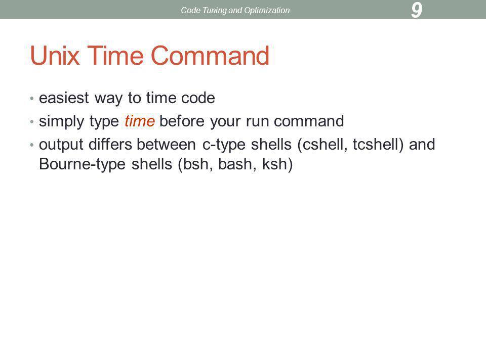 Exercise 1 Copy files from /scratch disc Katana% cp /scratch/kadin/tuning/*.