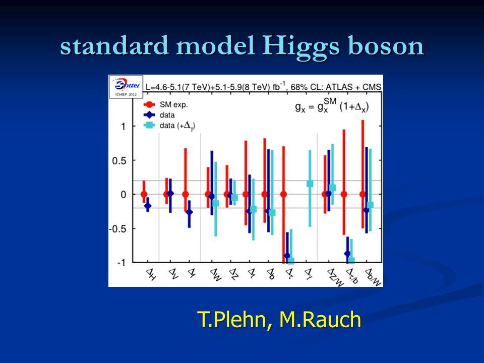 standard model Higgs boson T.Plehn, M.Rauch